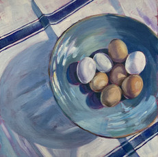 Turquoise Bowl & Eggs