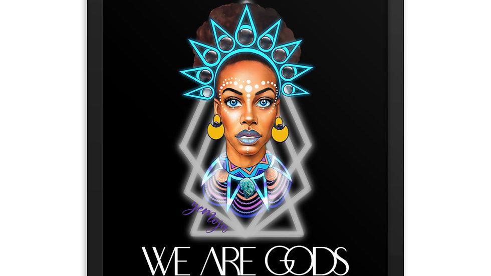 WE ARE GODS: YEMOJA Framed poster