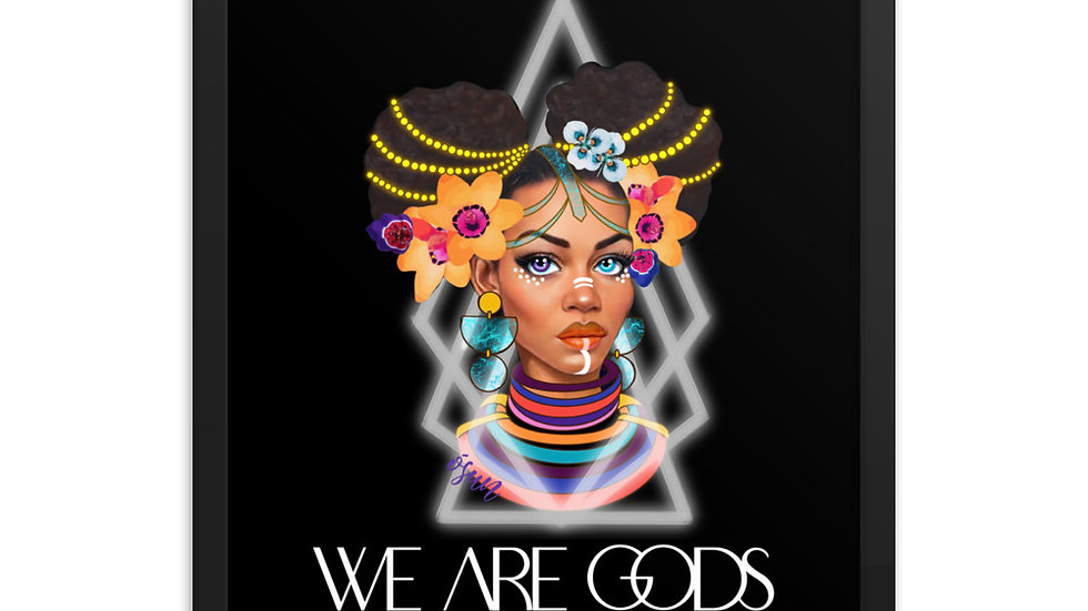 WE ARE GODS: OSUN Framed poster