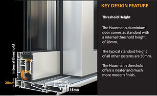 KEY DESIGN FEATURE 28mm THRESHOLD HEIGHT