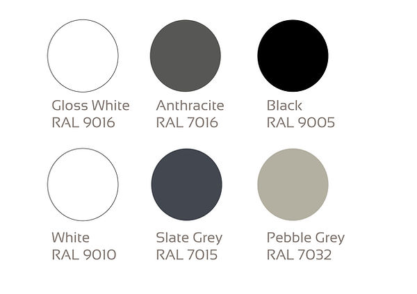 RAL COLOUR CHART FOR ALUMINIUM BI FOLD DOORS