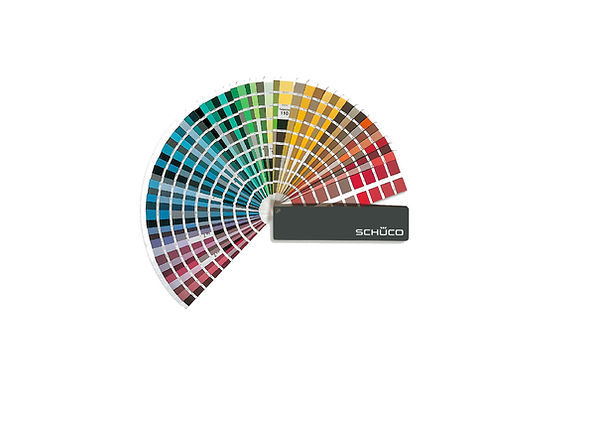 schuco colour chart