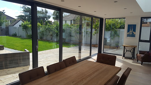 INTERIOR SHOT 8M ALUMINIUM SLIDING DOOR