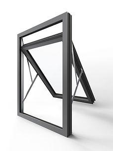 Pure Aluminium Overswing Window
