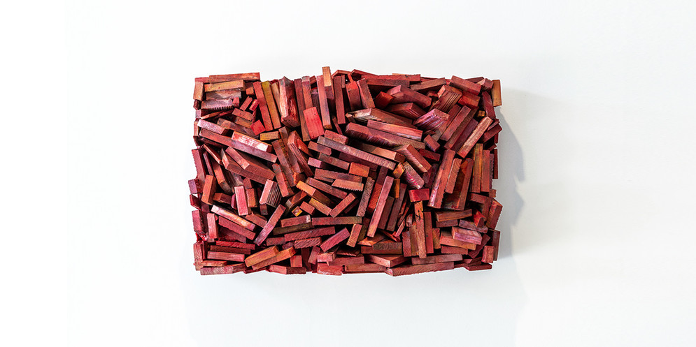 Red, 2017, mixed media, 48 x 72 cm