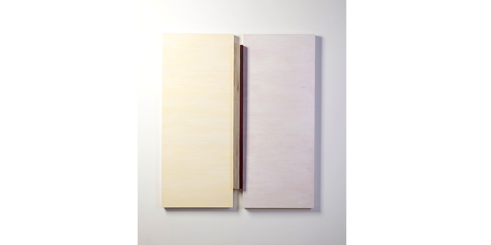 Construction- Adjecent Plum, 2013, acrylic on wood, 122 x 107 cm