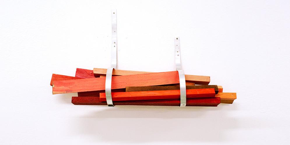 Bundle painting, 2012, acrylic on wood and aluminum, 45 x 70 cm
