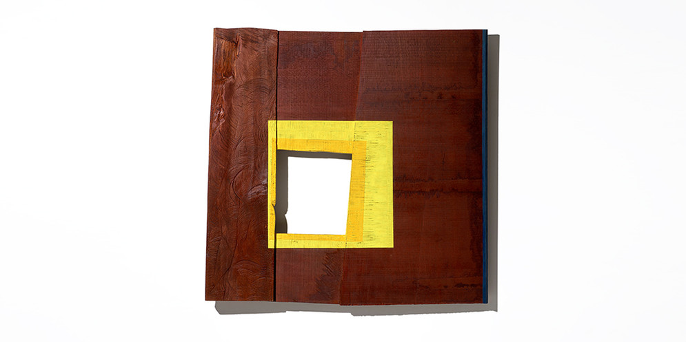 Yellow Square, 2017, acrylic on wood, 90 x 92 cm