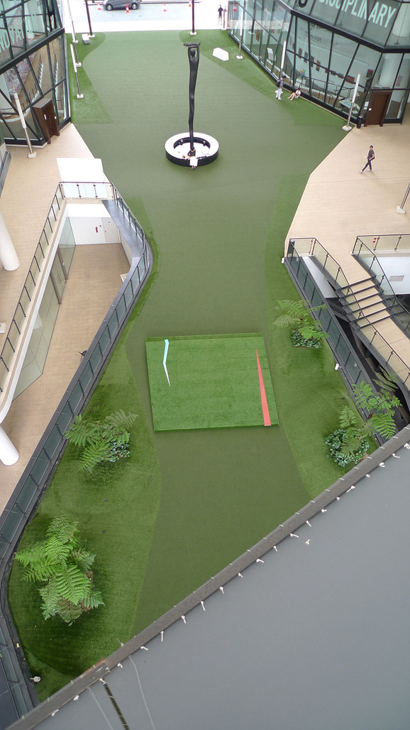 Turf painting, 2012, acrylic on wood, site-specific installation