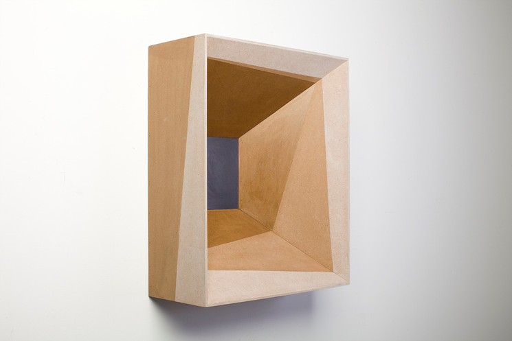 The brown box, 2013, wood stain on MDF, 51 x 42 x 18 cm