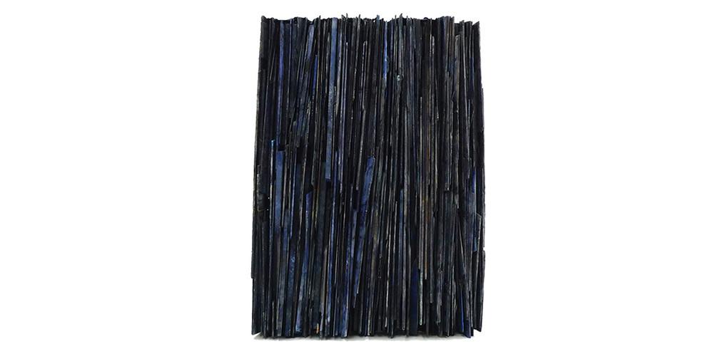 Blue vertical, 2018, mixed media, 68 x 46 cm
