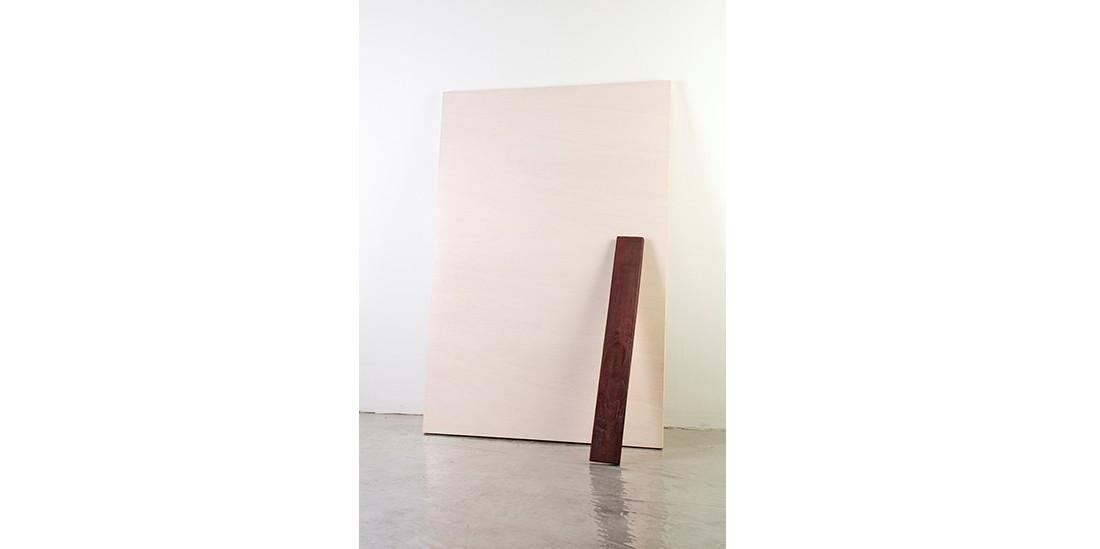Plum Stick, 2013, acrylic on wood, 122 x 82 cm, overall