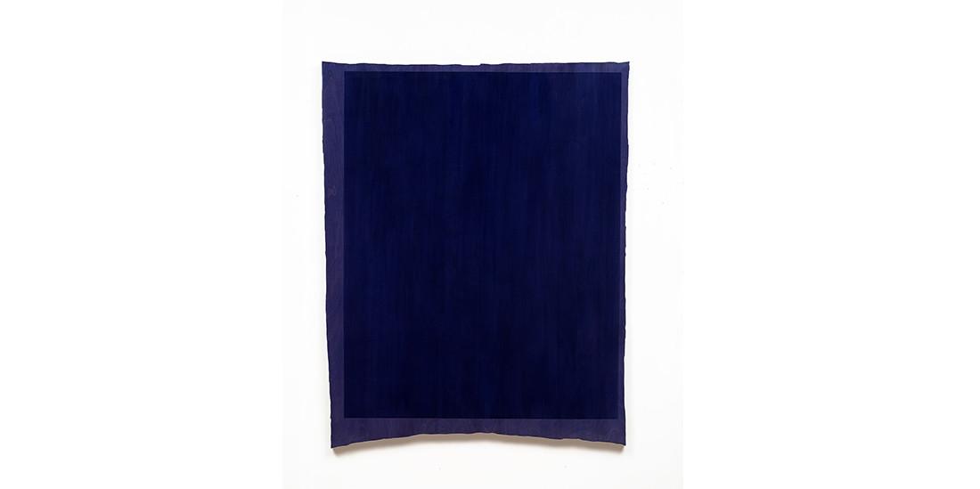 Rectangle-Blue, acrylic on wood, 111 x 124 cm