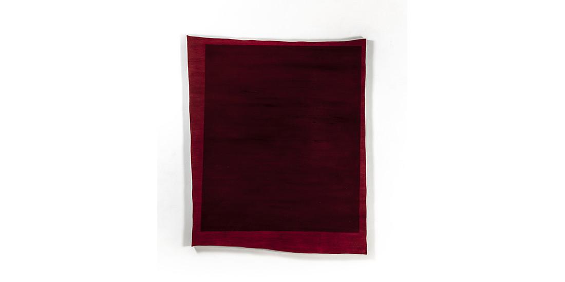 Rectangle-Dark Burgundy, 2013, acrylic on wood, 117 x 99 cm