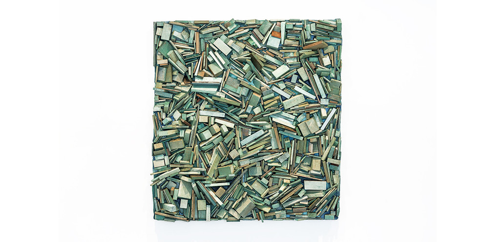Loose Green, 2019, mixed media, 130 × 120 cm
