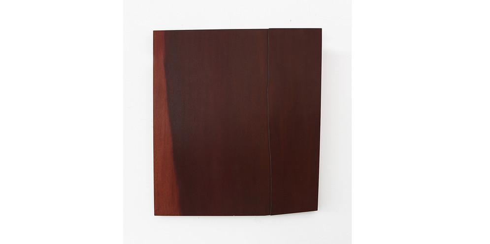 Turquoise Strip, 2014, acrylic on wood, 122 x 110 cm