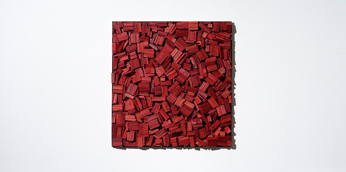 Red, 2019, mixed media, 102 x 110 cm