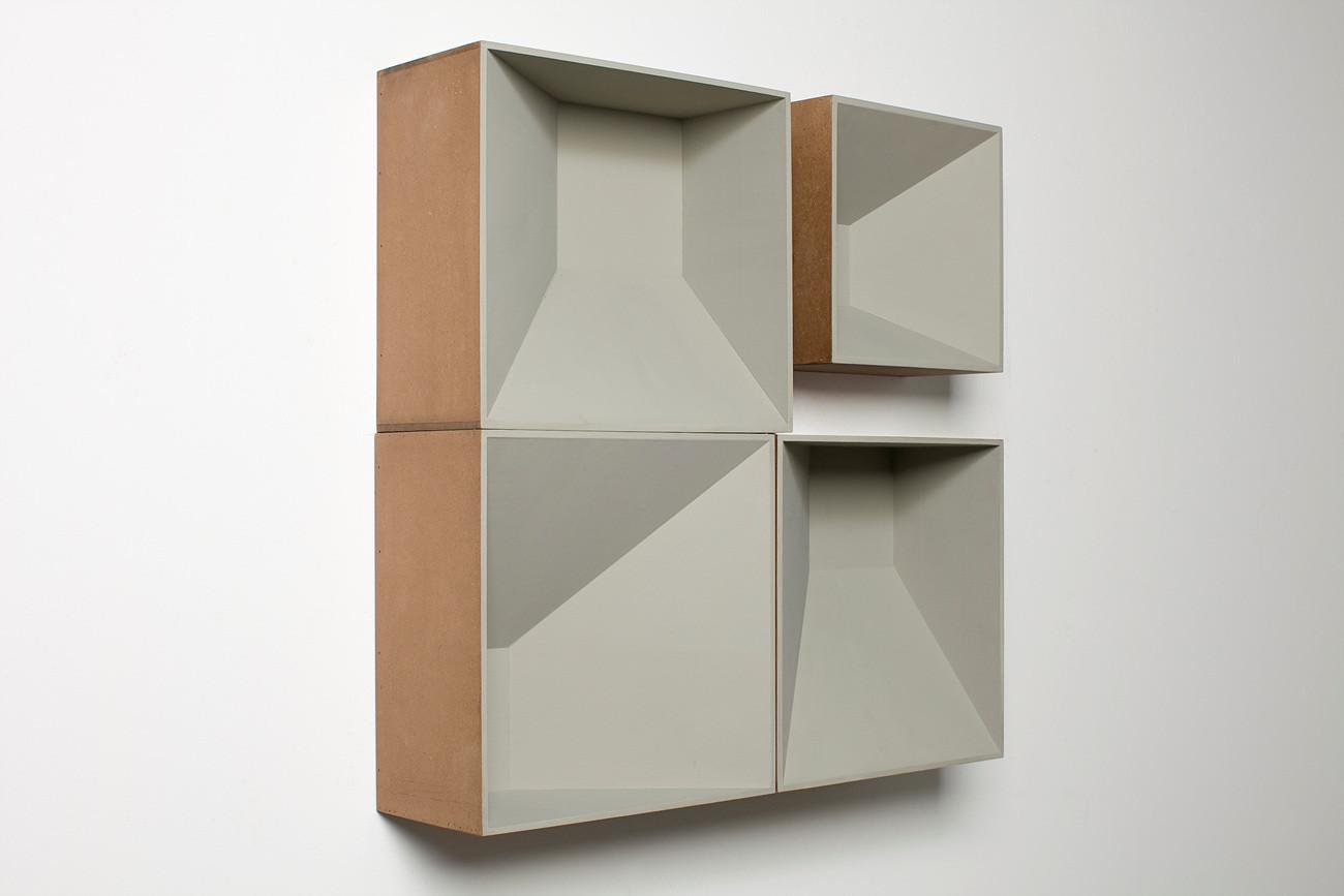 Four grey boxes, 2013