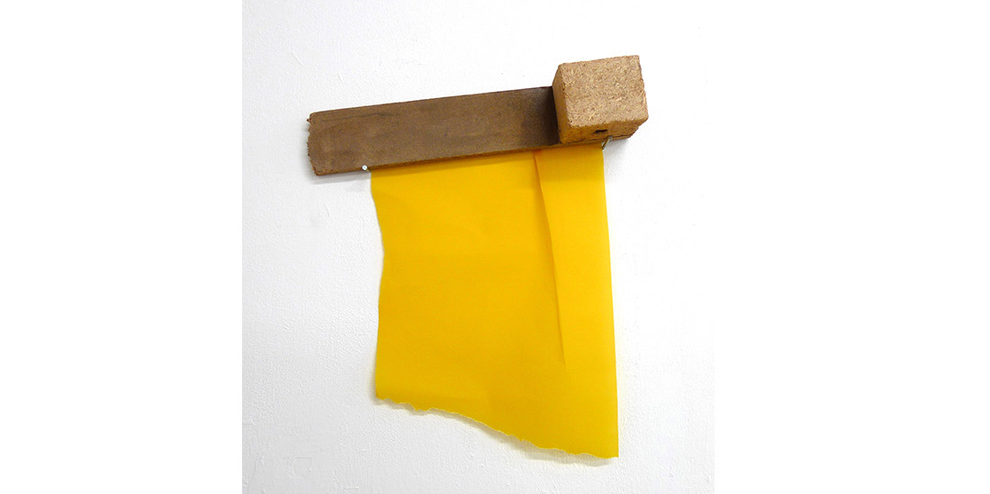 Yellow painting, 2012, yellow transparent paper and wood, 50 x 42 cm