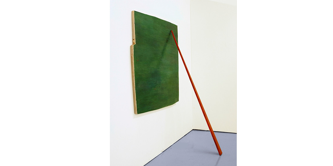 A Cubicle with painting-part 1, 2012, acrylic on wood, 118 x 122 cm