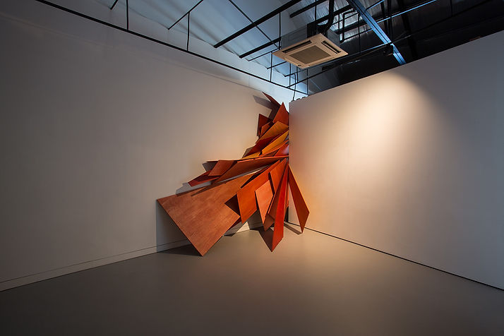Cutting into different spaces, 2015, acr