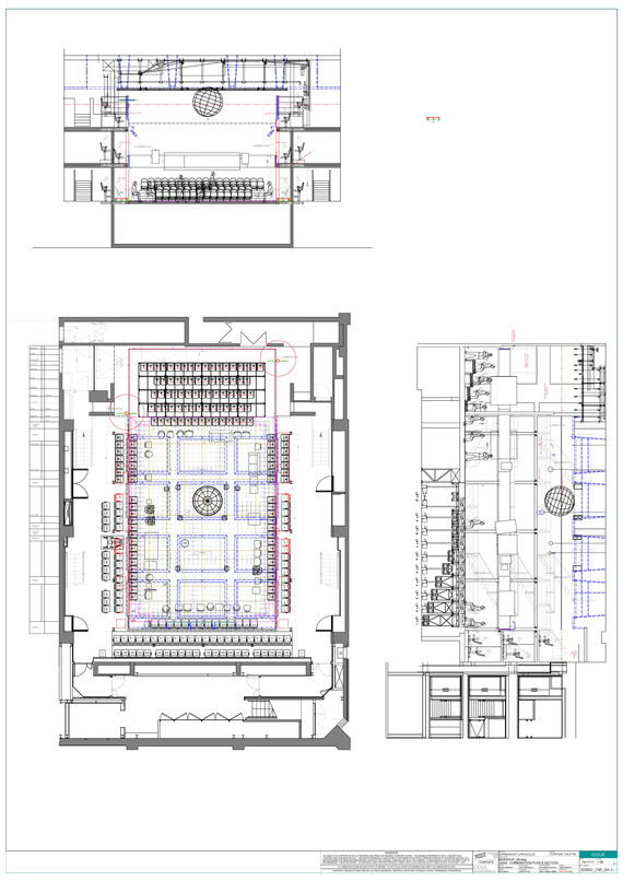 Ground Plan and Sections
