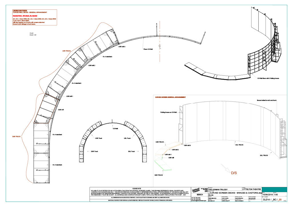 Curved Wall Construction Drawing