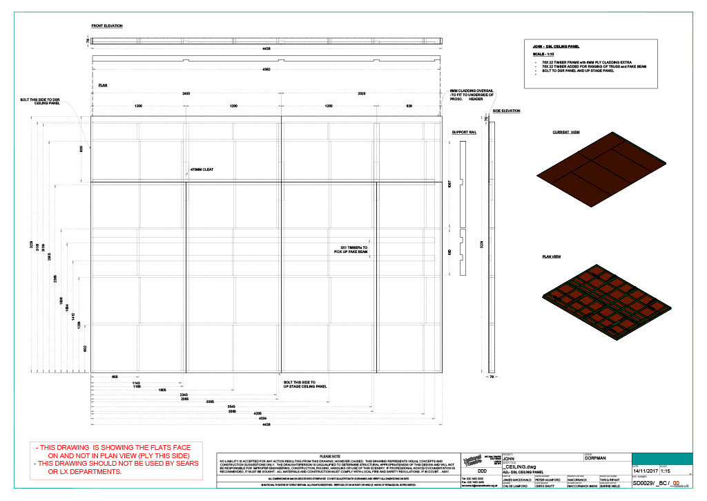 Ceiling Construction Drawing