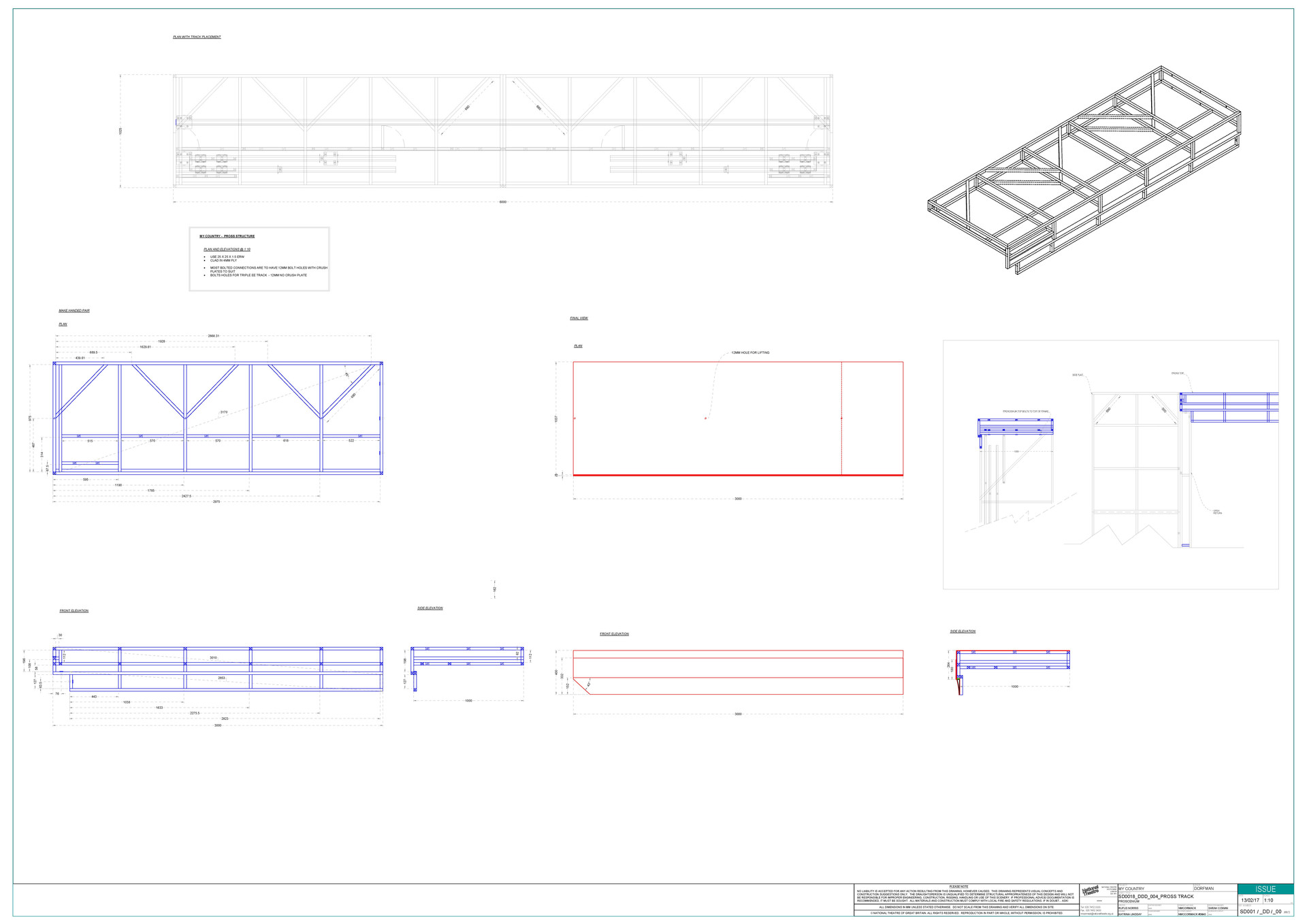 Proscenium Consruction Drawing