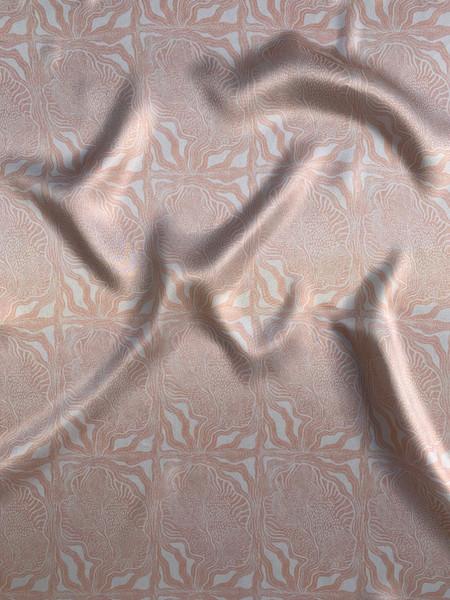 Organic Form on Silk Satin