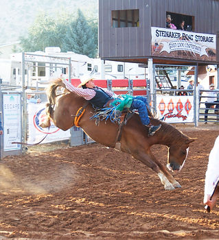 Bareback Riding Daggett County PRCA