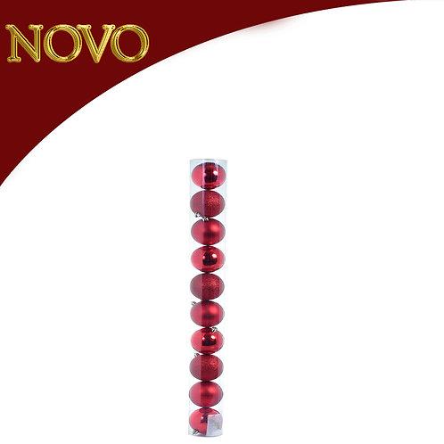 Bolas decorativas 80mm - 10 peças