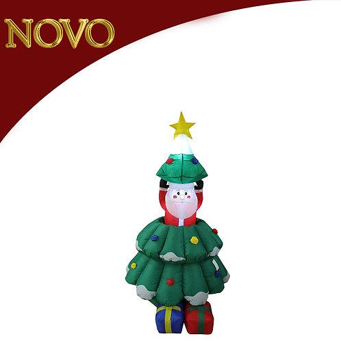 Árvore c/Santa inflável