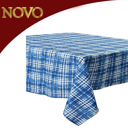Toalha de mesa azul/blanco 60x84