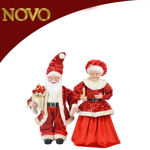 Conjunto Santa/Mama Santa 45cm