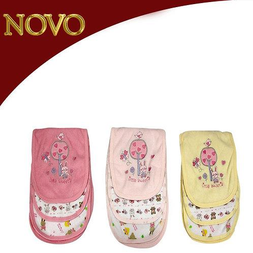 4 Toalhas para bebê - Kit 3 peças