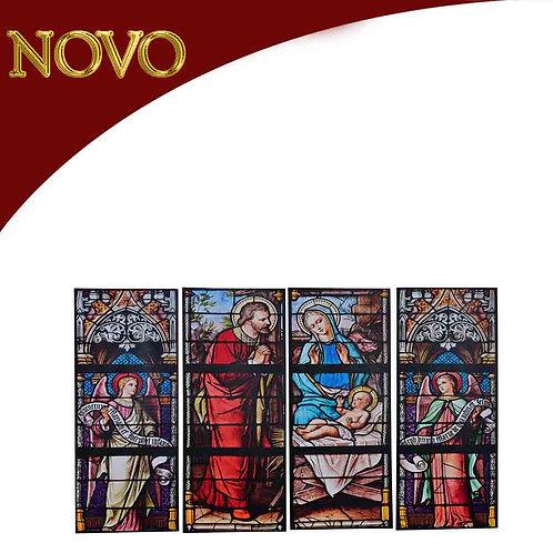 Conjunto de quadros Nascimento 40x100x2.5cm - 4 peças
