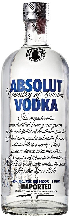 Vodka Absolut Blue - Tradicional - 1 L