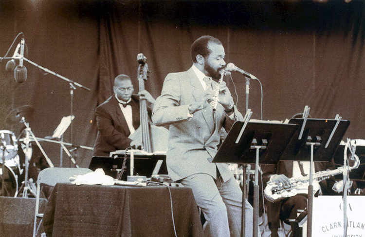 Hubert Laws Playing Flute
