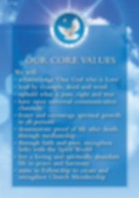 Centre Christian Spiritualist Church - Our Core Values