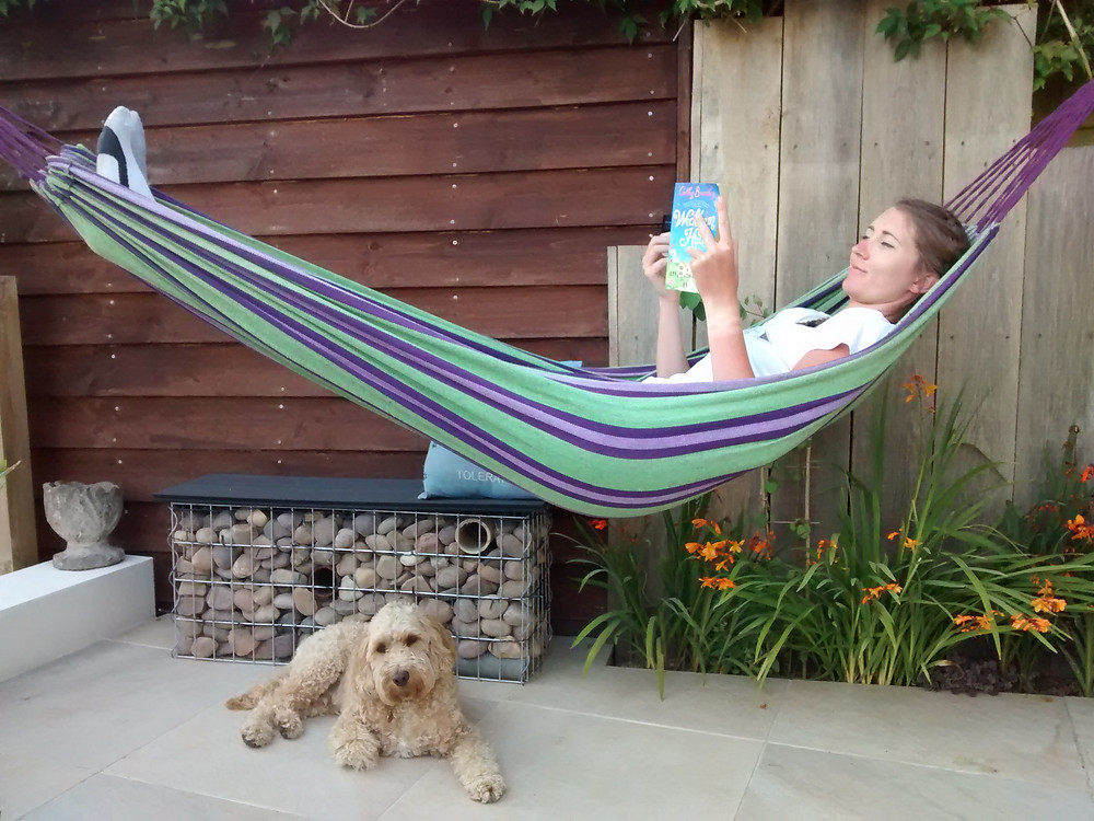 hammock, garden seating, relaxing, outside space,  relaxing in the garden, garden design, reading, outdoors, resting,