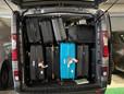 How much luggage can fit in a minibus?