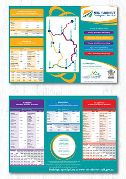 Bus timetable - double sided