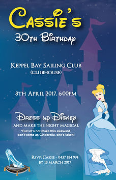 Disney birthday invitation