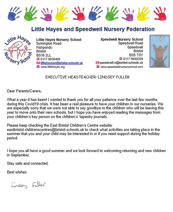 End of Term Letter from our Head Teacher