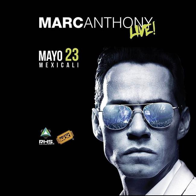 Marc Anthony trae el ritmo a Mexicali