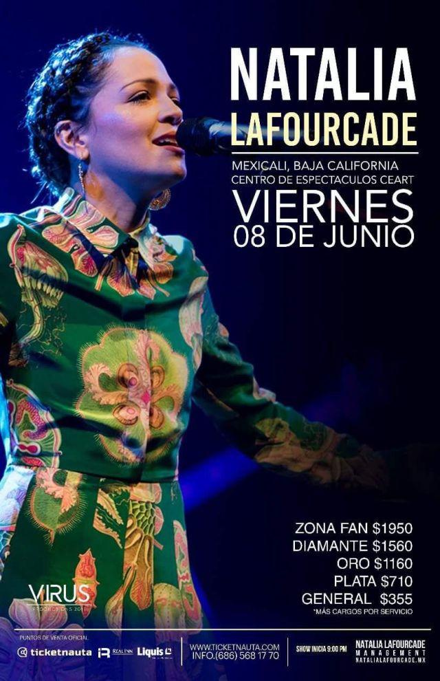Natalia Lafourcade viene a Mexicali