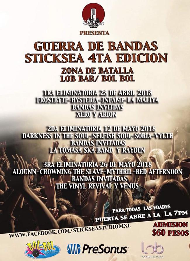 Arranca Guerra de Bandas Sticksea 4ta Edición