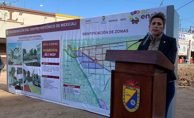 """Avanza regeneración de """"La Chinesca"""" en el Centro Histórico de Mexicali"""