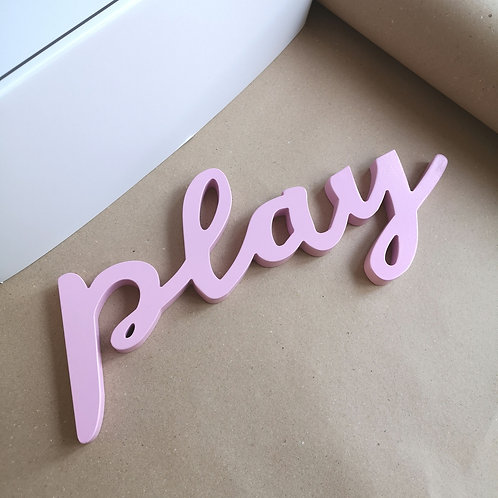Pink Wooden Play Wall Art
